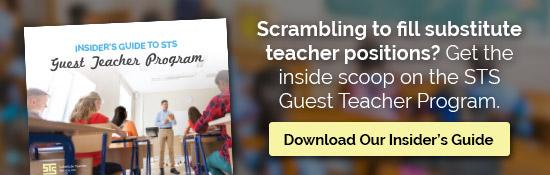 Scrambling to fill substitute teacher positions? Get the inside scoop on the STS Guest Teacher Program. Download Our Insider's Guide